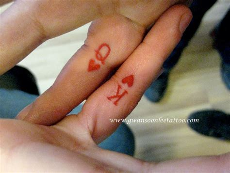 king and queen finger tattoos 17 stylish finger tattoos