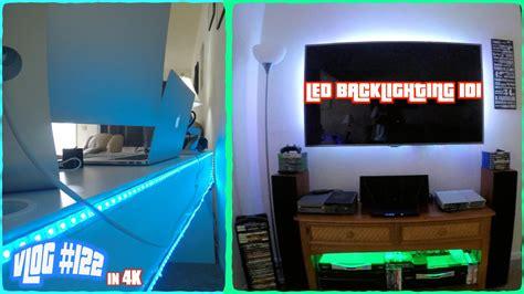gaming desk led lights my desk gaming setup led backlighting project 4k