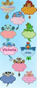 embroidery pattern name cute critter name tags applique machine embroidery designs