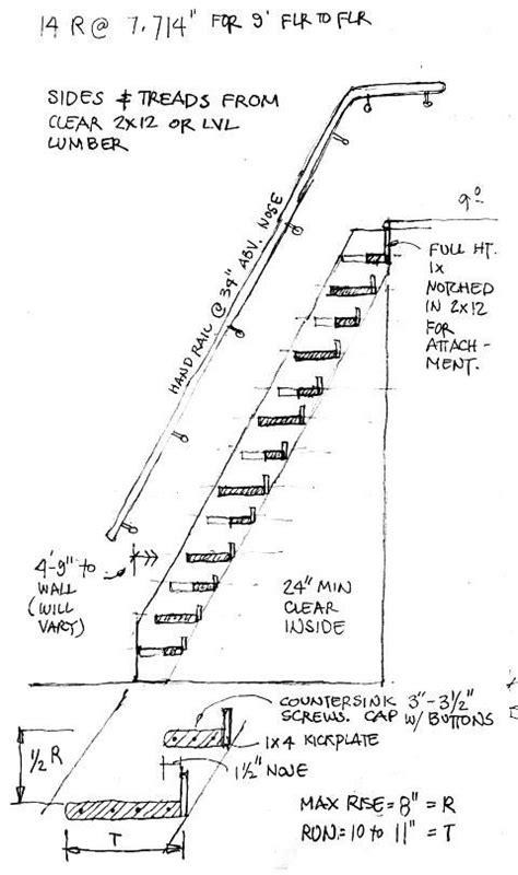 Alternate Tread Stairs Design Alternating Tread Plans Studio Design Gallery Best Design