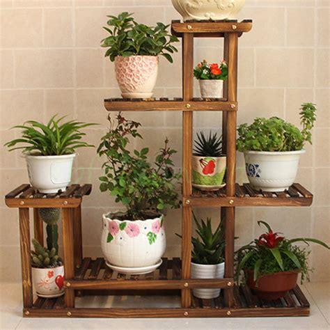 Wooden Plant Flower Herb Display Stand Shelf Storage Rack Garden Flower Stands
