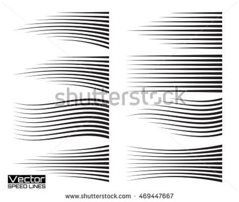line templates for photoshop speed lines set motion effects collection stock vector
