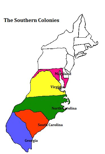 southern colonies map the southern colonies by aiden thinglink
