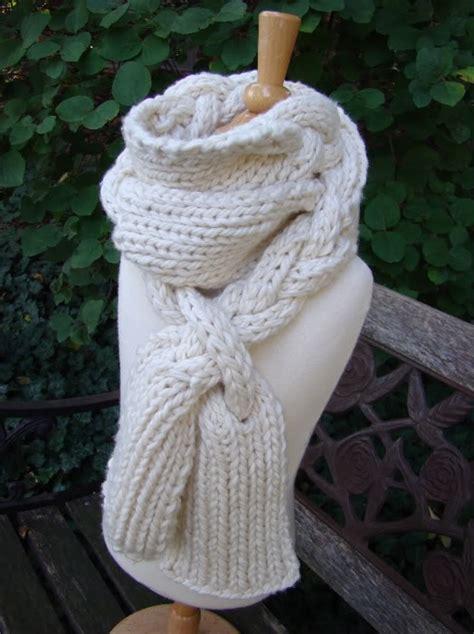 knit braid braided scarf free pattern yarn