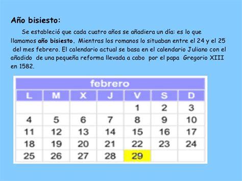 Calendario Bisiesto El Calendario En La Antig 252 Edad