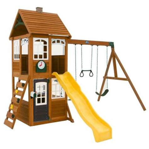 cedar summit mckinley wooden playset f24950 the home depot