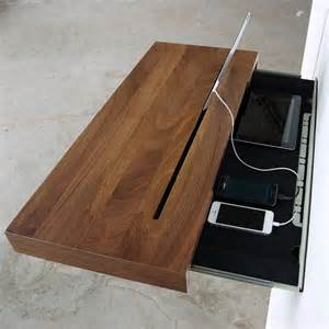 Build Your Own Nightstand Elegant Stage Offers A Discreet Charging Shelf For Your