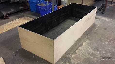 Custom Metal Planters by Custom Copper Insert With Flanges Made For Wooden Planter