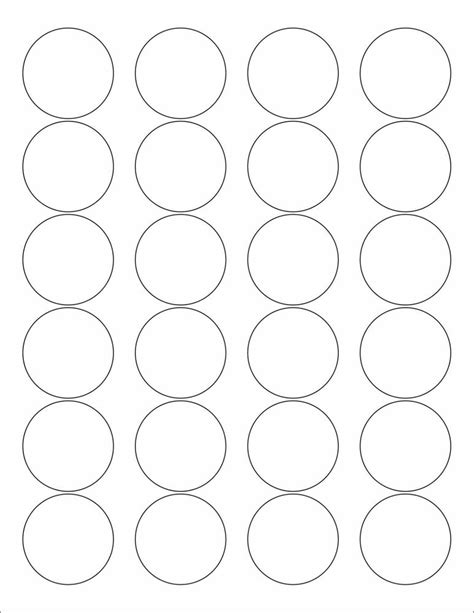 printable round stickers sheet 6 sheets 1 2 3 round blank white matte stickers labels 8 1
