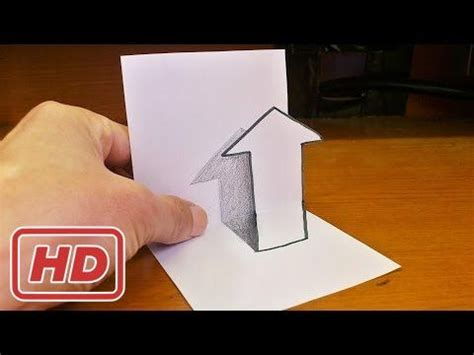 how to make 3d illusion l very easy how to draw 3d arrow for kids anamorphic