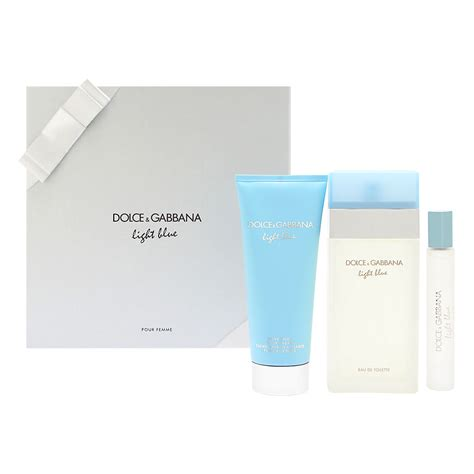 light blue dolce and gabbana womens gift set light blue perfume 3 3 oz by dolce gabbana 3 gift