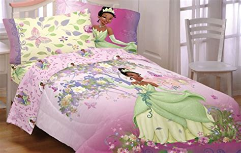 princess tiana comforter set 4pc disney princess and the frog full bed sheet set