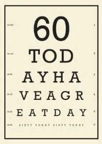 eye chart 60th birthday 60th birthday card scribbler cards