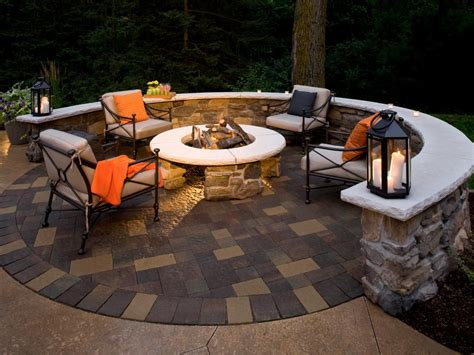 Patio With Firepit Designing A Patio Around A Pit Diy