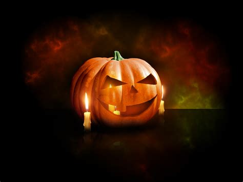 Pumpkin Candle Wallpapers Free Wallpapers