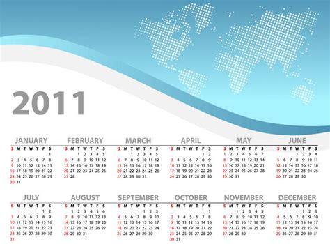 Planning your New Year 2011 Vacation Calendar   VacationCounts