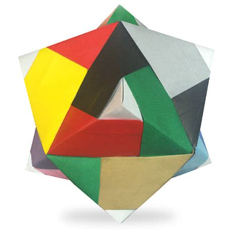Origami Lines - origami line trisoctahedron easy origami