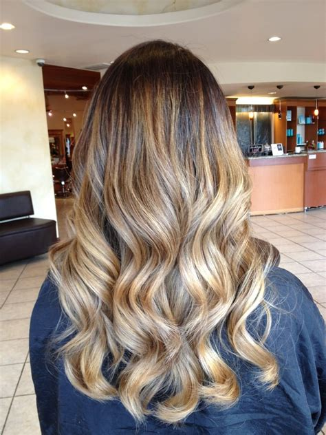 gallery blonde highlights onbre blonde ombre with seamless balayage highlights yelp