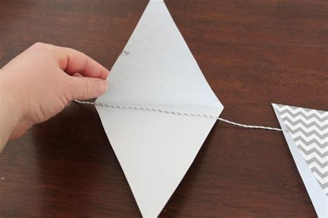 How To Make Paper Bunting - how to make paper bunting tutorial