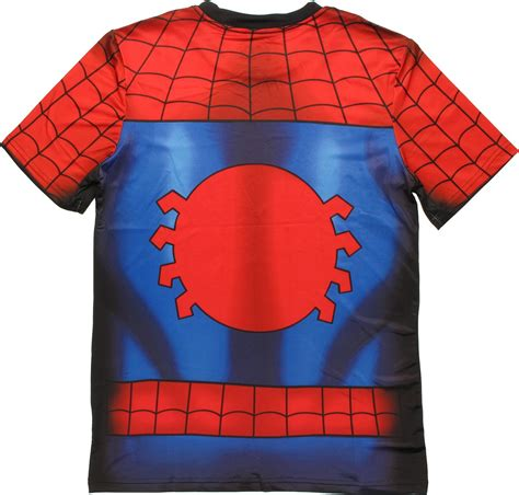 Custom Spiderman1 sublimated costume t shirt sheer