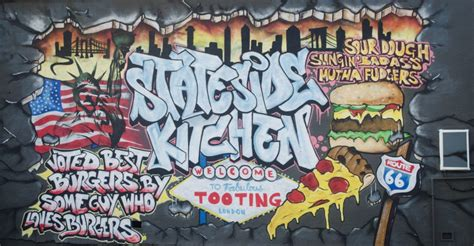 stateside kitchen street art london custom wallpaper