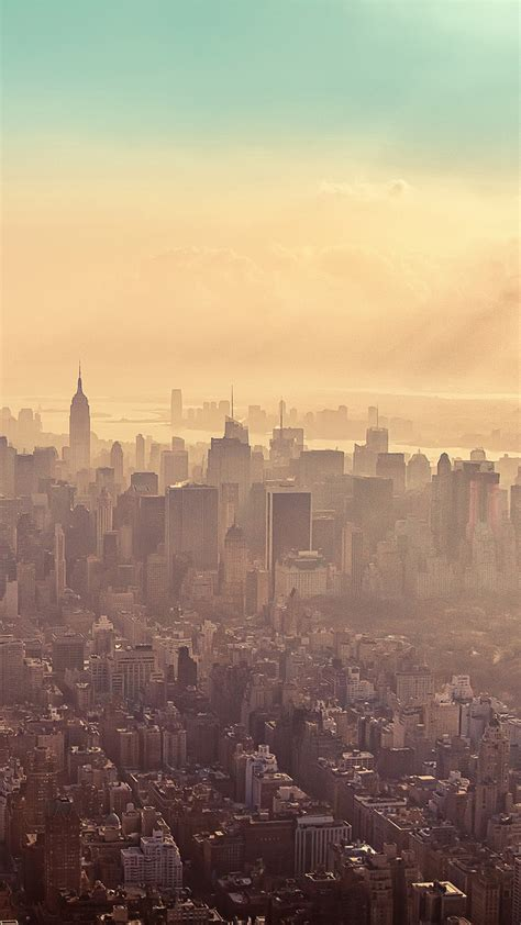 wallpaper android new york new york city sunrise haze android wallpaper free download