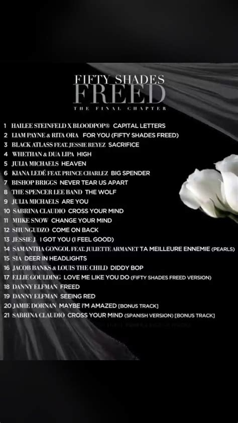 s day soundtrack list fifty shades updates news soundtrack list for fifty