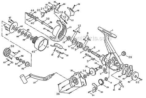fishing reel parts diagram pflueger 4735 parts list and diagram ereplacementparts