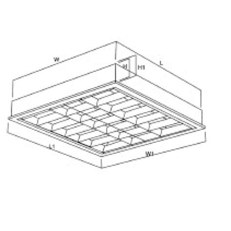 Lu Emergency Maxspid mirror optic louver fitting surface type
