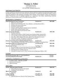 Resume Samples Electrician by Resumes For Electricians Industrial Electrician Resume