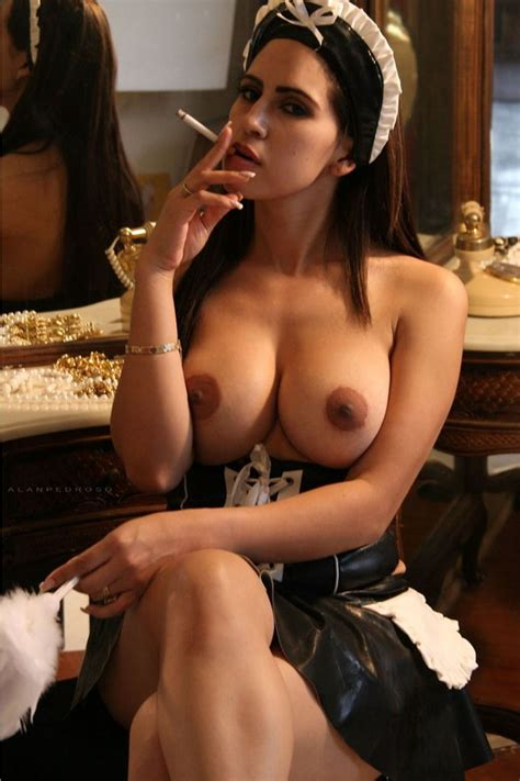 Smoking French Maid With Perfect Tits French Maid