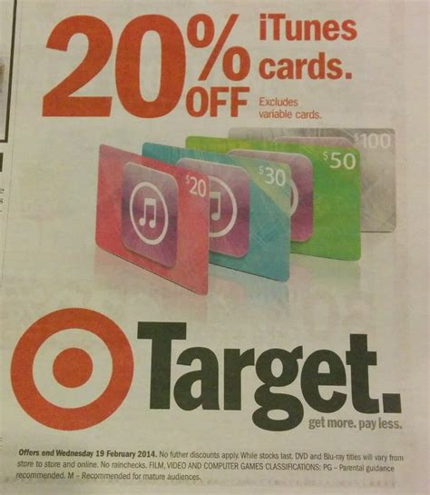 Itunes Gift Cards 20 Off - expired save 20 off itunes gift cards at target gift cards on sale