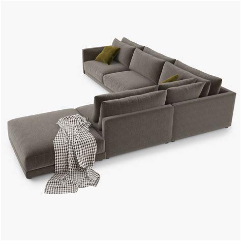 poliform bristol sofa price poliform bristol sofa 3d model 3d model max obj 3ds fbx