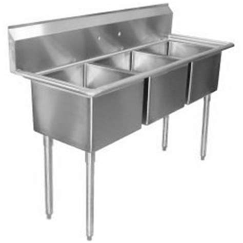 Three Compartment Kitchen Sink Three Compartment Kitchen Sink With Right Drainboard