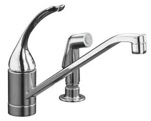 home depot kitchen sink faucet kohler coralais single kitchen sink faucet in polished chrome the home depot canada