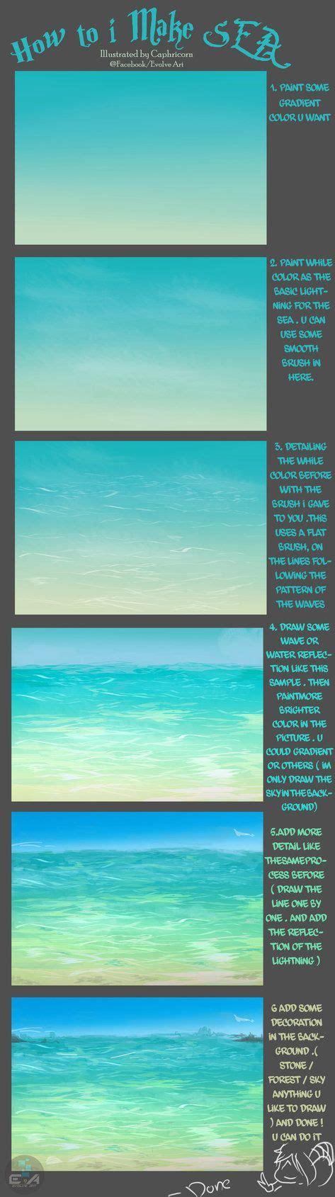 watercolor tutorial beach 25 best ideas about sea drawing on pinterest ocean