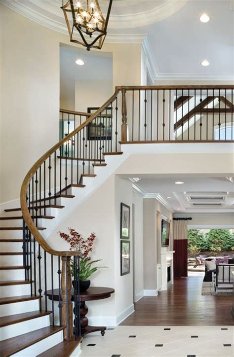 foyer staircase ideas  pinterest curved