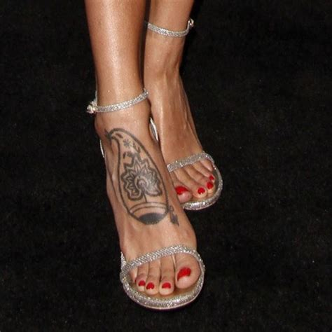 eiza gonzalez tree tribal design foot tattoo steal her