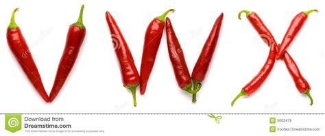 hot pepper 7 letters letters made of peppers royalty free stock images image