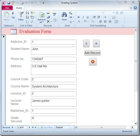 Create A by Make Database Application Form In Access 2010