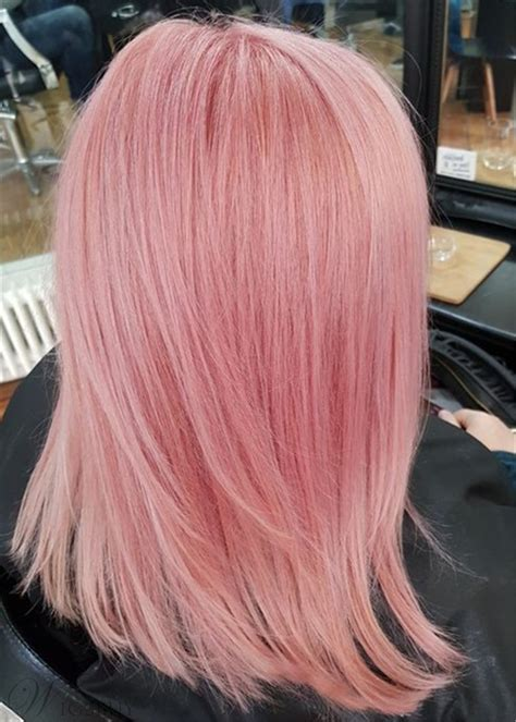pink color bob style mid length straight human hair lace front wigs  inches wigsbuycom