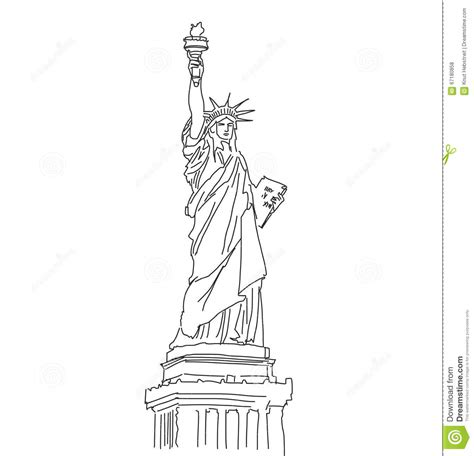 Scribble Outline by Statue Of Liberty Vector Outline Scribble Stock Vector Image 67180858