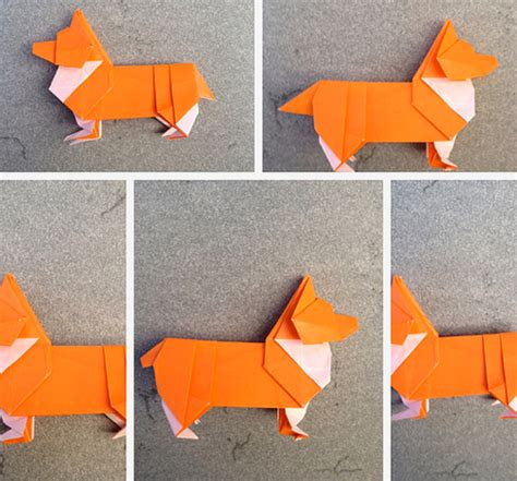 M Origami - make an origami corgi how about orange