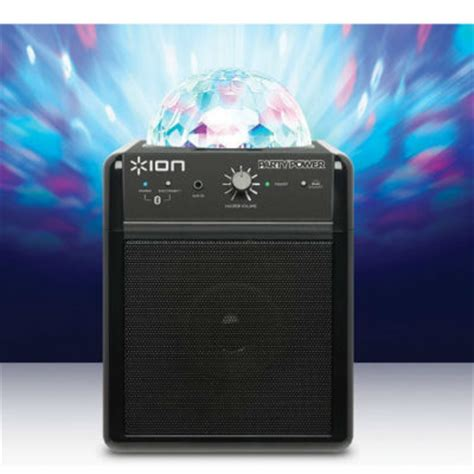 ion portable speaker system with party lights ion audio party power portable bluetooth speaker system