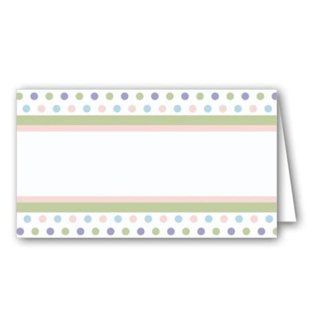 Baby Shower Place Cards by Baby Dots Shower Place Cards Paperstyle