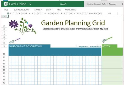 Free Garden Planner Template For Excel Online Plant Feeding Schedule Template
