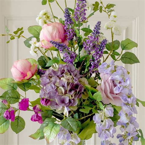 artificial garden flowers artificial luxury cottage garden flower bouquet by the