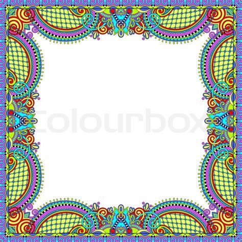 what is melissa marcos ethnic background floral vintage frame ukrainian ethnic style vector