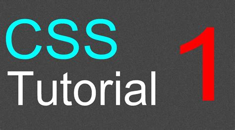 css tutorial video for beginners css tutorial for beginners 01 introduction to css