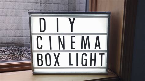 large cinema light box diy cinema light box youtube